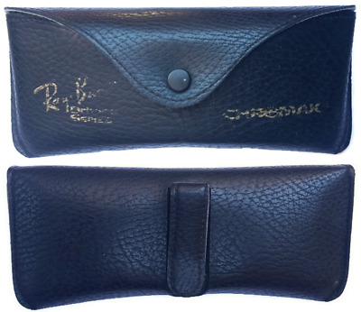 B & L Ray Ban Chromax Sunglasses Case VINTAGE 1970s/80s Black Leather