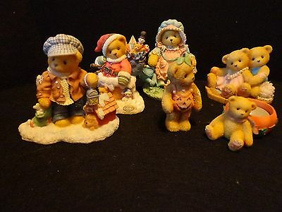 Cherished Teddies by Enesco lot of 6 Collectible Teddy Bear Figurines