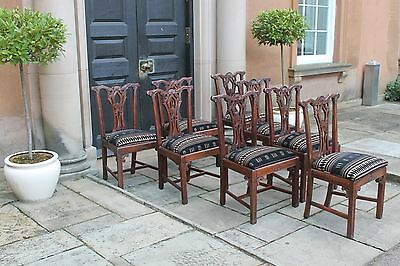 Cost £4,800 Hand Carved BESPOKE Chippendale Regency Antique Style DINING CHAIRS