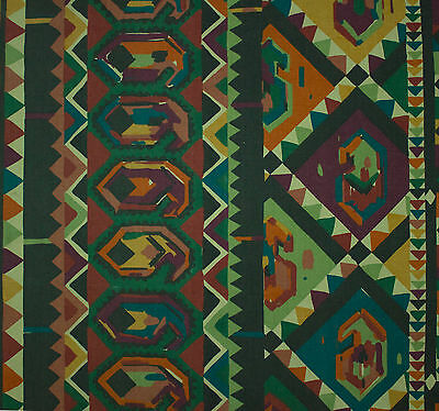 vintage 1980s Collier Campbell Kasbah Moroccan screenprint cotton fabric