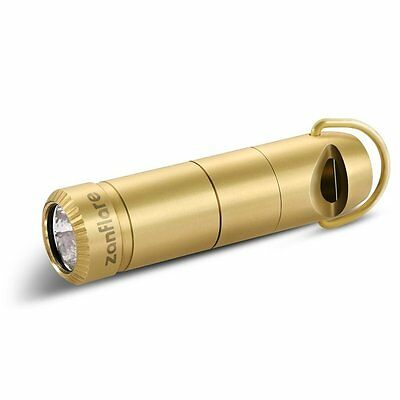 Zanflare F6 Mini LED Keychain Whistle Rechargeable Flashlight Cree XP-G2 Golden