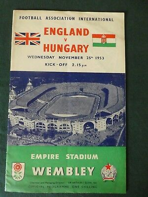 ENGLAND v HUNGARY 1953 VG/Excellent Condition
