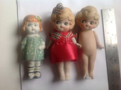 Bisque Googly Eye,  Dolly Dingle, Betty Boop frozen Charlotte flapper doll lot