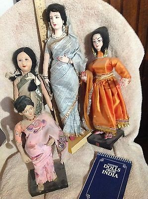 Old East Indian lady doll lot