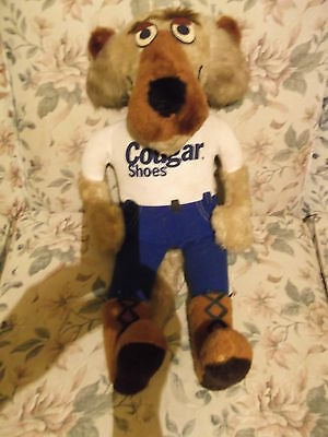 """Vintage 24"""" Plush Mascot for COUGAR  shoes - with tags - missing belt VG"""