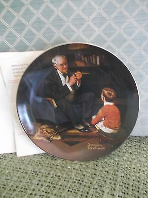 The Tycoon #6 Ltd Ed. Knowles Rockwell Heritage Collection series Plate