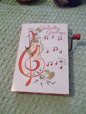 1950's Barker's Greeting Card Valentine Greetings musical wind up - not working