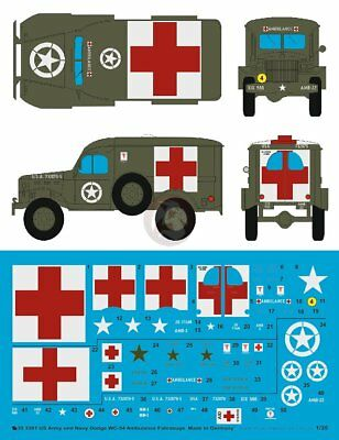 Peddinghaus 1/35 US Army and US Navy Dodge WC-54 Ambulance Markings [Decal] 3301
