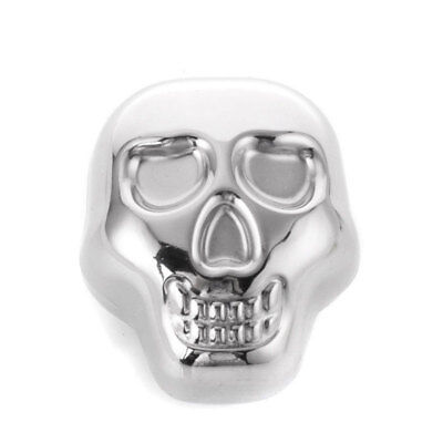 Stainless Steel Skull Ice Cube Beer Cooler Wine For Bar Cooling Whiskey Stone