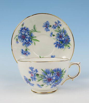Hammersley Cornflower Large Oversized Cup & Saucer Jumbo Breakfast English Blue