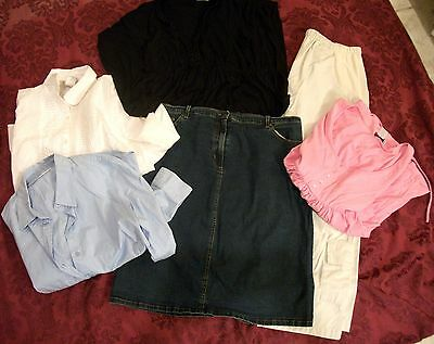 Spring Summer Maternity Wardrobe Size Large, 6 Items Motherhood, Two Hearts, Duo
