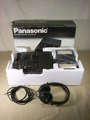 Panasonic RR-830 Standard Cassette Transcriber  with Pedal Sony Headphones & Box