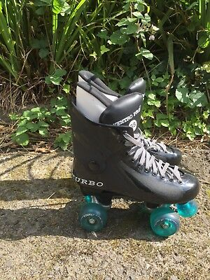 Ventro Pro Turbo Roller Skates, Black And Teal Size 38/5