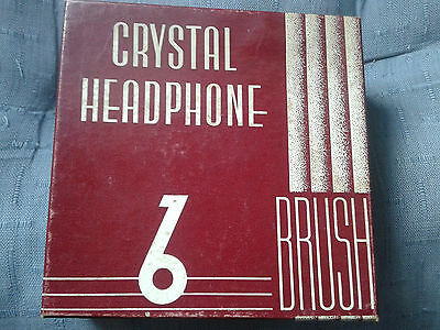 Vintage Clevite Brush Crystal Headphones Model Ba-210 - Nice