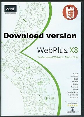 Serif Webplus x8 this is a Download version PDF start Guide 100% Genuine