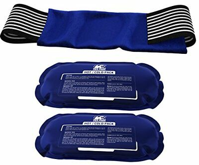 Ice Pack (2-Piece Set) – Reusable Hot and Cold Therapy Gel Wrap Support Injury