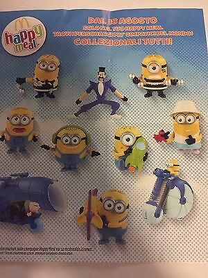 Happy meal Minions 2017 Cattivissime Me 3