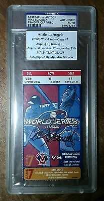 ⚾ CLINCHER! ANGELS BEAT GIANTS 2002 WORLD SERIES GAME #7 TICKET STUB Signed Auto