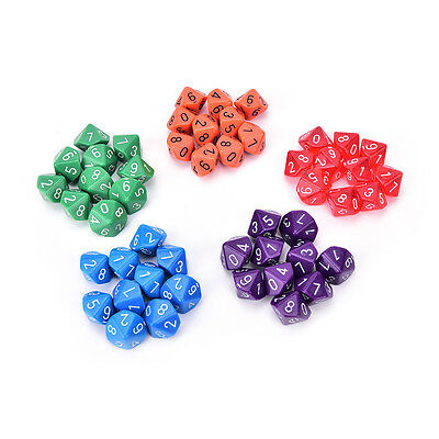 10pcs multi sides dice D10 gaming dices for RPG games hot sale Pop. Ci