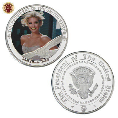 WR Ivanka Trump Fine Silver Plated Coin Metal Crafts Model Souvenir Perfect Gift