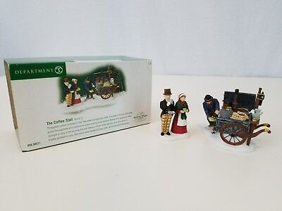 DICKENS VILLAGE Accessory Dept 56 THE COFFEE STALL #58571 with Box