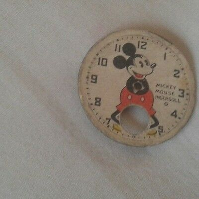 vintage 1930s disney ingersoll mickey mouse wristwatch face