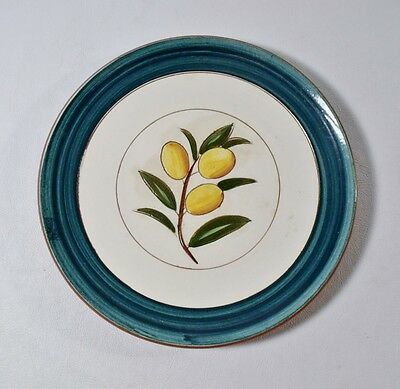 "Stangl KUMQUAT (Green Rim) 8-1/8"" Salad Plate EXCELLENT"