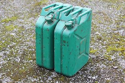 2 x Jerry Cans / fuel petrol diesel carriers containers