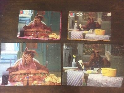 Lot of 2 Vintage ALF TV Show Full-color Puzzles
