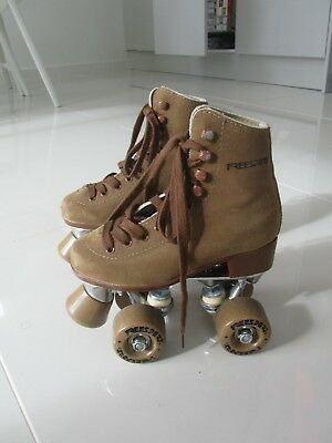 Freesport Roller Skates Kids: Brown Suede - UK Size child 12 / Eur 31
