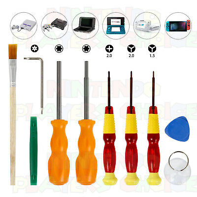 10 Piece Nintendo Tool Kit 3.8mm + 4.5mm + Triwing SNES N64 Cube 3DS Wii Switch