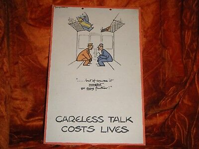 Careless Talk-But of Course It Must'nt go Any Further! WWII ORIGINAL FOUGASSE