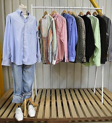 Job Lot 10 X Vintage Mens Ralph Lauren And Tommy Hilfiger Shirts. (74)