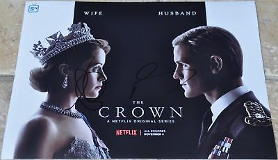 """Matt Smith & Claire Foy Signed 12"""" x 8"""" Colour Photo The Crown Doctor Who"""
