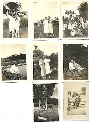 "Vintage 1930's Photograph Lot of Eight ""Girls Having Fun"""