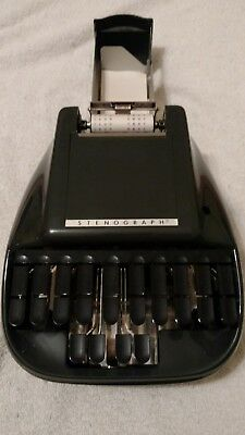 Vintage Stenograph Reporter Shorthand Machine With Case