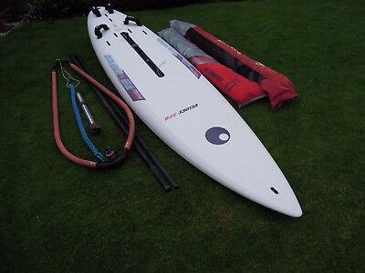 Great Beginners Windsurf Set, Board, Rig And 2 Sails, Good Condition