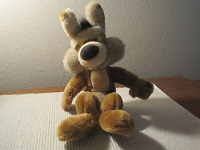 "Wile E. Coyote, stuffed toy, 14"" tall"