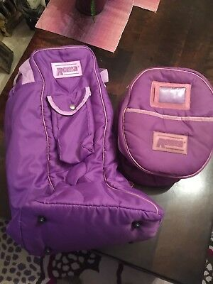 Roma Padded Boot And Hat Bag Purple