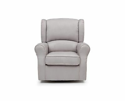 Delta Furniture Morgan Upholstered Glider Swivel Rocker Chair Dove Grey