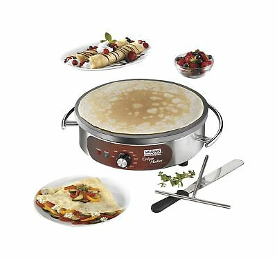 """Waring Commercial WSC160X Heavy-Duty Electric Crepe Maker 16"""" Stainless Steel"""