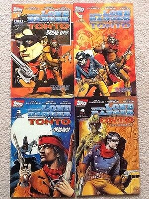 Lone Ranger and Tonto #1 to 4 complete series Topps Comics 1994 VF Tim Truman