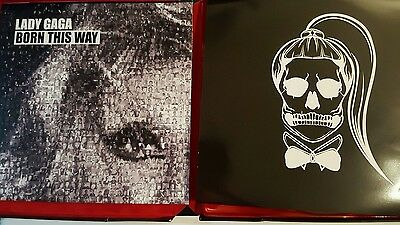 "NEW LADY GAGA BORN THIS WAY 9 x 12"" VYNAL PICTURE DISC BOX SET COLLECTORS ITEM"