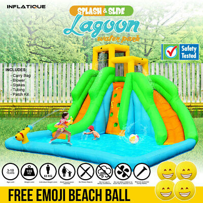Inflatable Water Slide Lagoon Water Park | Jumping Castle Bouncer Waterslide