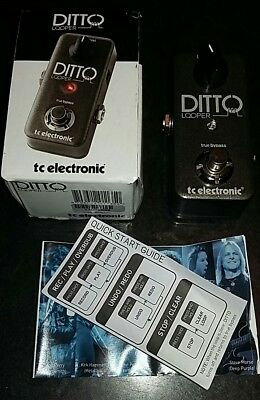 TC Electronic Ditto Looper Guitar Loop Effects Pedal with original box