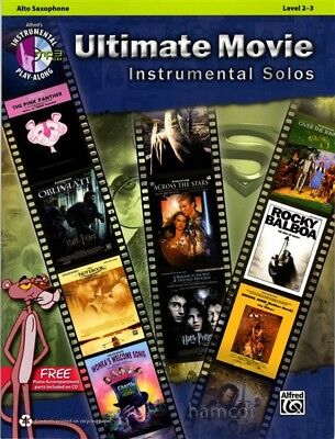 Ultimate Movie Instrumental Solos Alto Saxophone Music Book & Play-Along CD