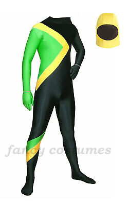 Jamaican Bobsled Team Cool Fancy Dress Costume Jamaica Bobsleigh Running Outfit