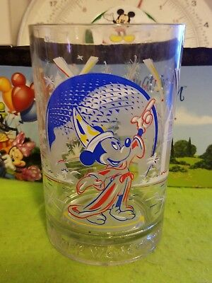 Disney Glass Cup 25th Anniversary Magic Sorcerer Mickey Mouse Epcot