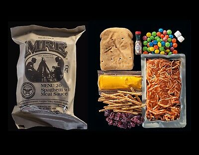 US ARMY MRE Military Meal Ready Emergency Inspect Date 2019-MAY