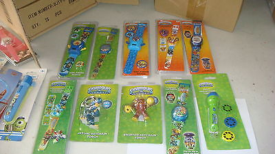 BEAT THIS TRADE LOT OF 50 X MIX  Character Watches  Skylanders  Watchs 100% NEW